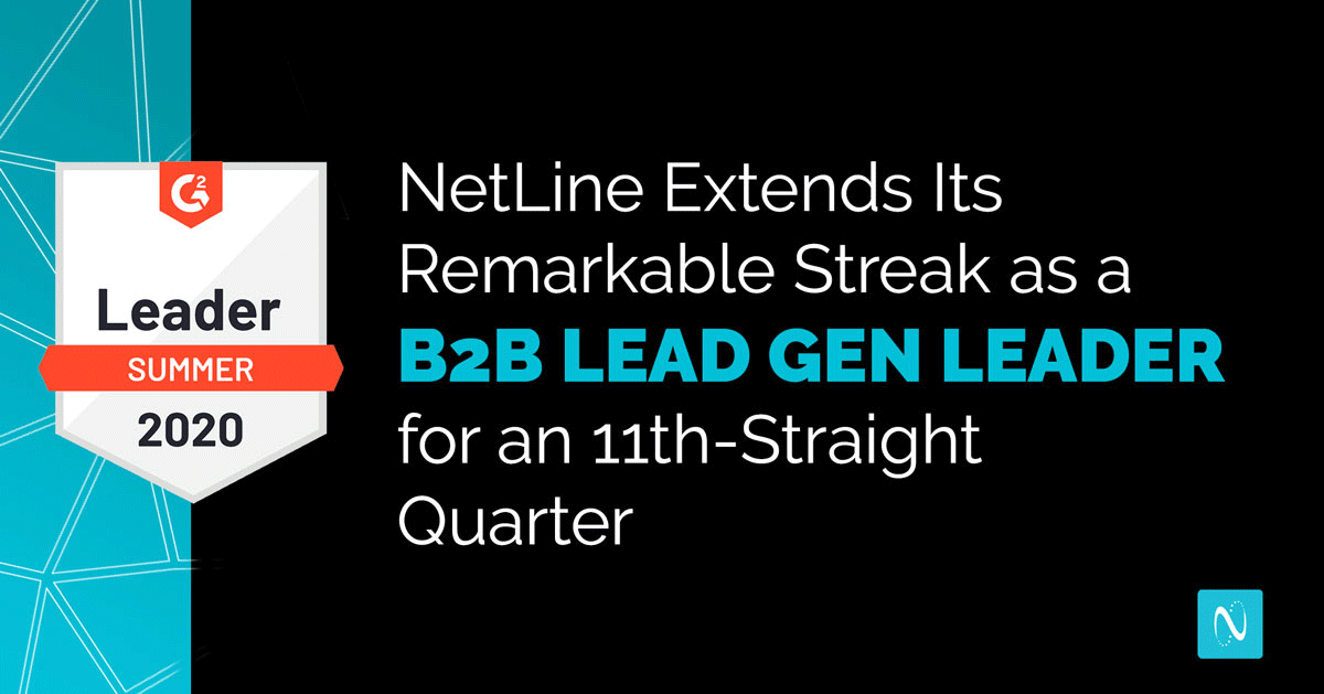 NetLine Extends Its Remarkable Streak as a B2B Lead Gen Leader for an 11th-Straight Quarter